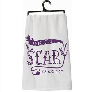 This is As Scary As We Get Halloween Dish Towel
